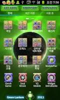Screenshot of greenlantern go launcher theme