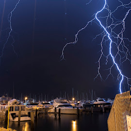Sky Explosion by Craig Eccles - News & Events Weather & Storms ( thunder, lightning strike, lightning storm, lightning, event., news, boats, weather, thunder storm, thunder bolt, storm )