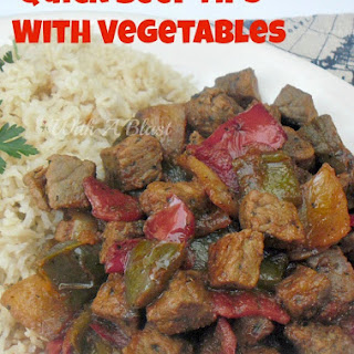 QUICK BEEF TIPS WITH VEGETABLES (L/F)