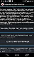 Screenshot of Volume Button Recorder PRO