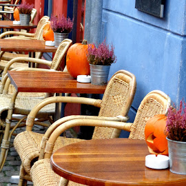 Pumpkins by Gianni Frasca - Artistic Objects Furniture ( copenhagen, street, pumpkins, city, halloween )