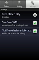 Screenshot of SMS Cestovný lístok