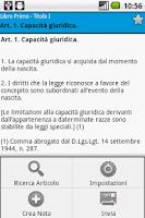 Screenshot of Codici e Leggi Italiane