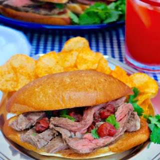 Mexican Style Steak Sandwich