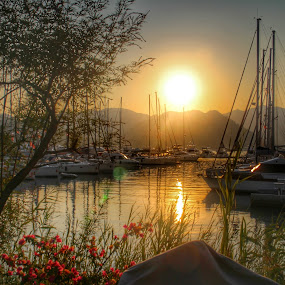 Gocek, turkey by Marc-Antoine Kikano - Landscapes Sunsets & Sunrises ( nature, hdr, sailing, sunset, beach, sun )