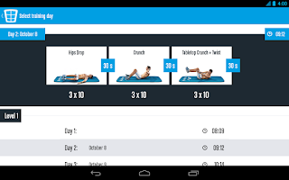 Screenshot of Runtastic Six Pack Abs Workout