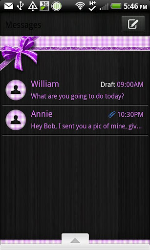 GO SMS - Purple N Black Plaid