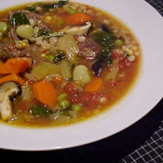 Hearty Beef, Barley And Vegetable Soup