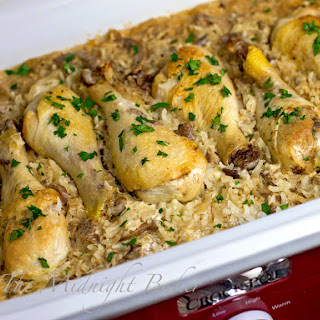 Slow Cooker Chicken with Creamy Mushroom Rice