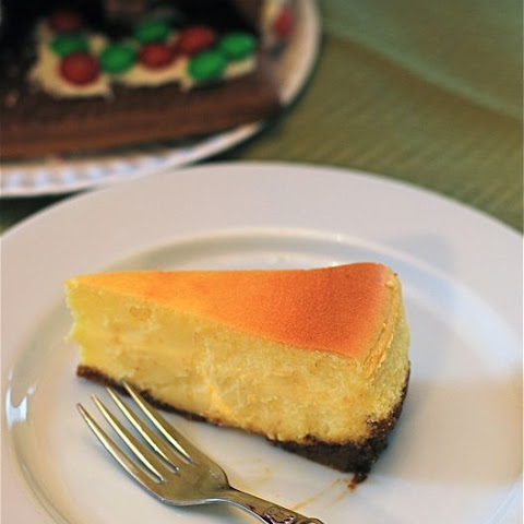 Meyer Lemon Cheesecake with Gingersnap Crust