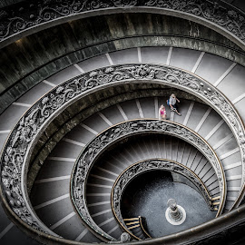 Vatican Stairs by Olli-Pekka Juhola - Buildings & Architecture Public & Historical