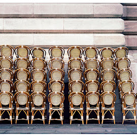 Reparable Junction by Ronald Andrew Schvarztman - Artistic Objects Furniture ( abstract, chairs, street, candid, nyc, new york city, furniture )