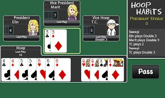 Screenshot of President Card Game