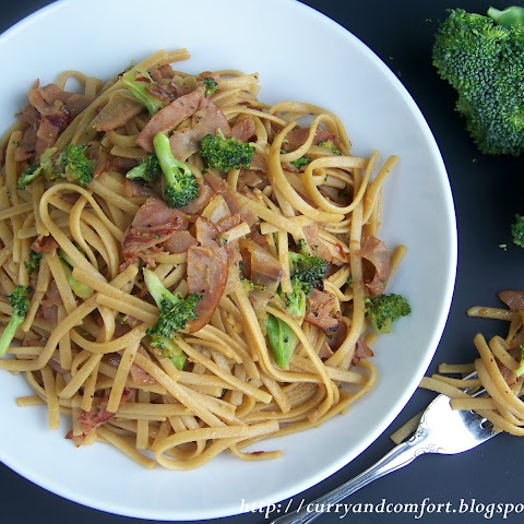 Ham and Broccoli Noodle Stir Fry