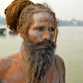 Sadhu baba by Indranil Ghosh - People Portraits of Men (  )