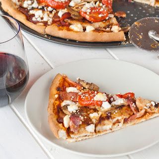 BBQ Chicken and Feta Pizza