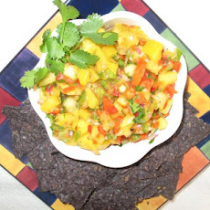 Sweet & Spicy Mango Pineapple Salsa