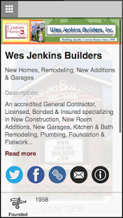 Jenkins Builders - screenshot