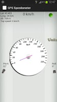 Screenshot of GPS Speedometer: white version