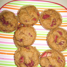 Vegan Raspberry Strawberry Muffins
