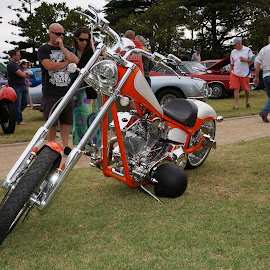 Hot Chopper by Jefferson Welsh - Transportation Motorcycles