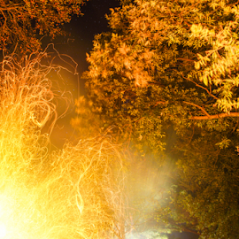 Fire Spirit by Brian Box - Abstract Fire & Fireworks ( arkansas photographer, embers, long exposure, fire, flame )