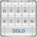Berry White Keyboard THEME mobile app icon