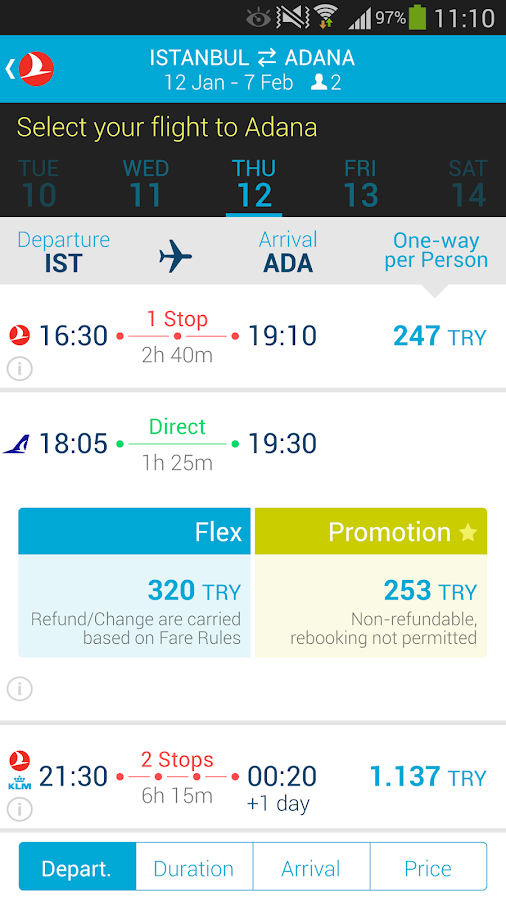 Turkish Airlines Screenshot 5
