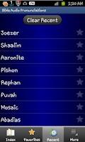 Screenshot of Bible Audio Pronunciations