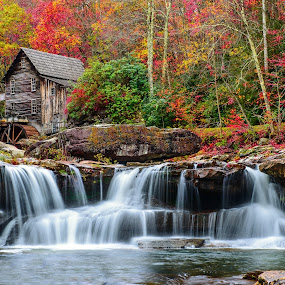 Babcock Grist Mill by Jim Harmer - Buildings & Architecture Public & Historical ( landscape )