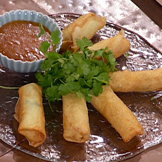 Lobster Spring Rolls with a Citrus-Chili Dipping Sauce