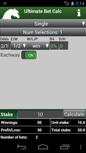 Ultimate Bet Calculator