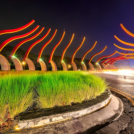 Gate by Yossy Ryananta - Buildings & Architecture Statues & Monuments ( bulb, street, long exposure, street scene, gate )