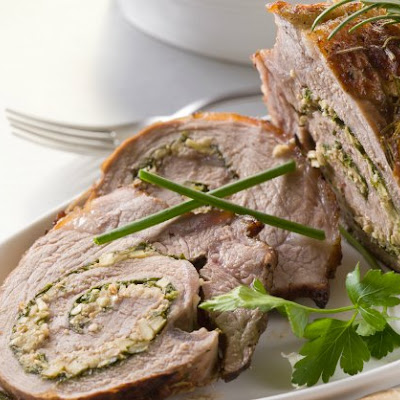 Roasted Veal Shoulder with Chicken Liver Stuffing