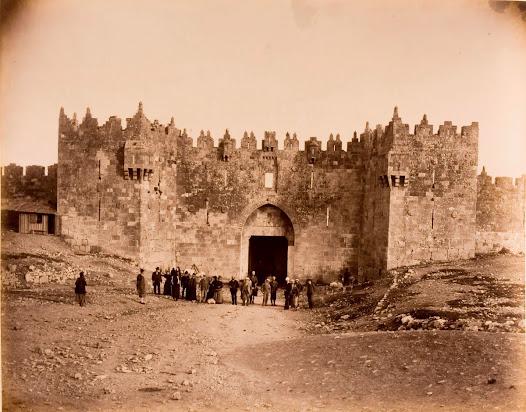 Gate on the walls of Jerusalem known as Bab al-Amud
