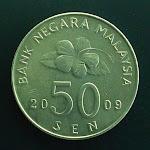 Malaysia 2nd series 50 Sen obverse