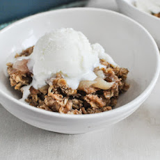 White Peach Cardamom Crumble