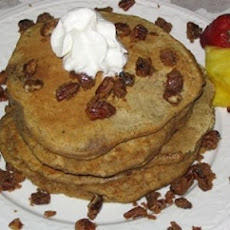Gingerbread Pancakes with Carmelized Pecans