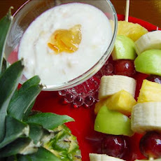Fruit Kabobs With Coconut Dressing