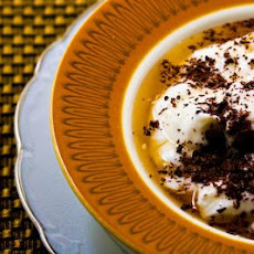 Greek Yogurt Dessert with Hazelnut Agave and Shaved Dark Chocolate