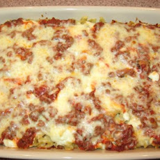 Hamburger Sour Cream Pasta Bake