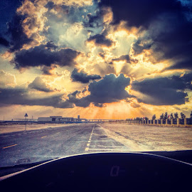 Rays of hope breaking through by Emraan Bhatti - Landscapes Cloud Formations ( #uae, #clouds, #sunset )