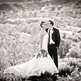 Valley view by Scott Nelson - Wedding Bride & Groom
