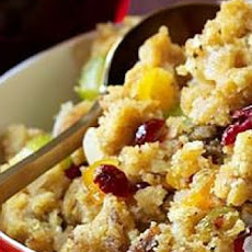 Cornbread Stuffing with Fresh and Dried Fruit
