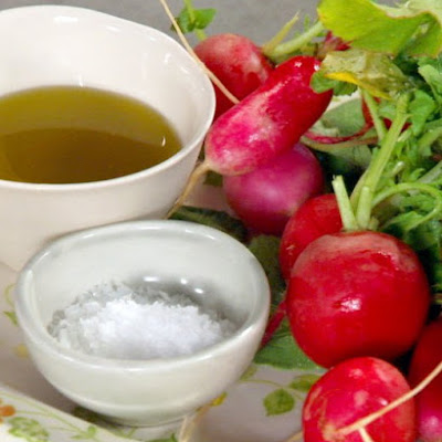 Radishes with Olive Oil and Salt