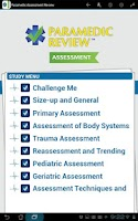 Screenshot of Paramedic Assessment Review