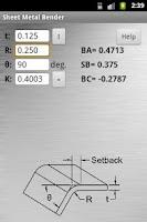 Screenshot of Sheet Metal Bender