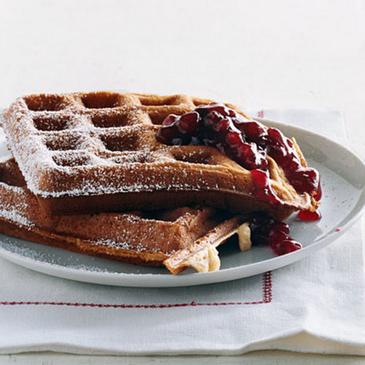 Cardamom Sour-Cream Waffles Recipe | Yummly
