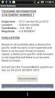 Screenshot of Tsunami Watch
