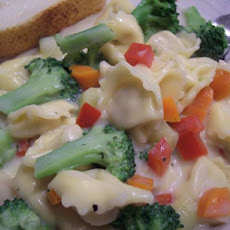 Tortellini With Light Alfredo Sauce